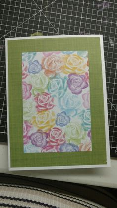 Front of flower card