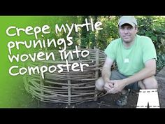 I raided my neighbor's burn pile for Crepe Myrtle trimmings and transformed them into a compost bin. Beautiful, rustic and organic.