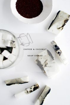 DIY Coffee and Coconut Soap Sticks | The Fifth Watches // Minimal meets classic design: www.thefifthwatches.com