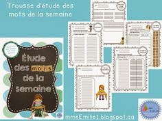 by Madame Emilie French resources French Resources, Primary Resources, Teacher Resources, Word Work Activities, Classroom Activities, Classroom Ideas, French Classroom, French Immersion, French Words