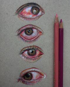 Bloodshot Crying Eyes Study