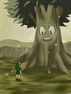 get it? Credits to the artist. For those who don't get it it's a reference to the legend of Zelda, the Deku tree and in bha Izuku's nickname is...Deku.
