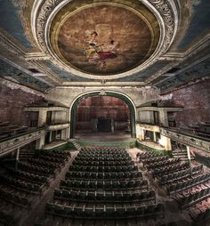 Abandoned New Bedford Orpheum Theater in Massachusetts.  Opened in 1912, closed in 1959.  Stunningly beautiful still.