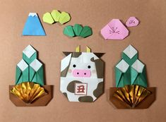 Origami, New Year Diy, Japanese New Year, Diy And Crafts, Paper Crafts, New Years Decorations, Child Day, Science And Nature, Independence Day