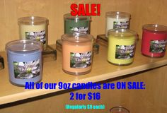 CANDLE SALE at Ki Massage Therapy in Richmond, VA. All 9oz candles 2 for $16 (regularly $9 each). www.kimassagetherapy.com (804)288-3200