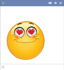 Our romantic smiley for Facebook chat will be perfect to send to the one you love, use it to tell someone you are thinking of them in a romantic way!