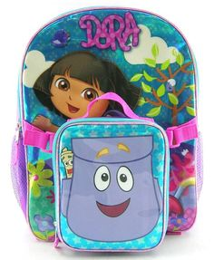 Amazon.com: DORA the explorer BACKPACK WITH detachable LUNCH box: Home & Kitchen