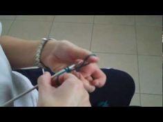 Lavorare la maglia ai ferri, Avviare la maglia - YouTube