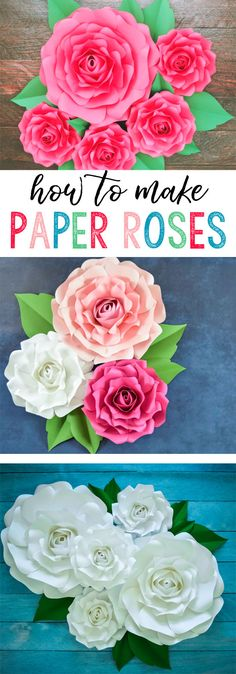 how to make paper roses | craft | make paper flowers | giant paper roses | nursery decor | paper crafts | flower decor | diy tutorials