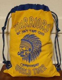 Golden State Warriors Backpack. One of a kind! For Sale at FB AlamedaIslandGirl.