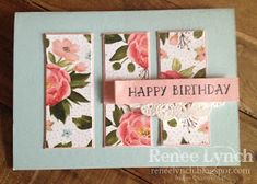 By Renee Lynch: INKspired Blog Hop 36 Birthday Bouquet DSP - Number of years - Stampin Up - tea lace doily