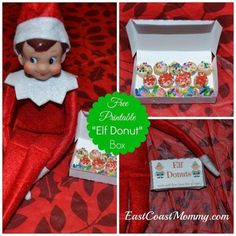 An elf-sized donut box. | 18 Printables To Seriously Up Your Elf On The Shelf Game