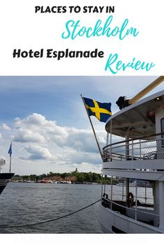 Places to Stay in Stockholm: Hotel Esplanade Review. Looking for somewhere to stay for your upcoming trip to Stockholm, Sweden, check out this awesome hotel on Nybroviken Quay.  #accommodation #sweden #stockholm