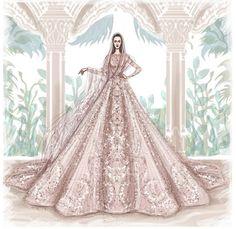 Direto do desfile de alta-costura de Elie Saab, o vestido é na cor malva, que também é tendência!