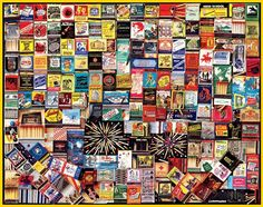 WISHLIST - Matchbook Collage Jigsaw Puzzle by White Mountain Puzzles