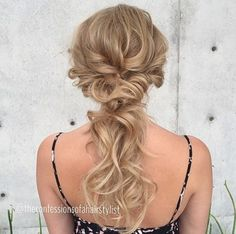 cute curly updo ponytail