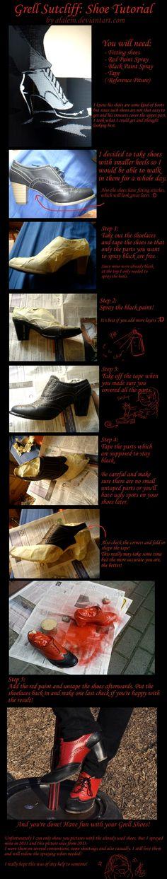 Grell Sutcliff Shoe Tutorial by Alalein.deviantart.com on @deviantART