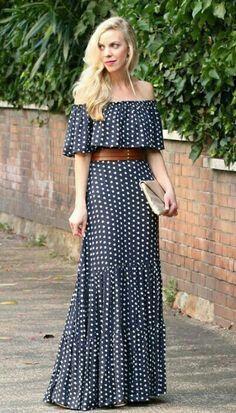 57 ideas for dress largos estampados Trendy Dresses, Cute Dresses, Casual Dresses, Fashion Dresses, Summer Dresses, Maxi Skirt Outfits, Dress Skirt, Mode Hippie, Elegant Outfit