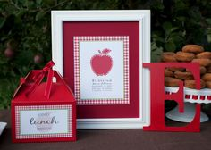 Apple themed birthday party. #party