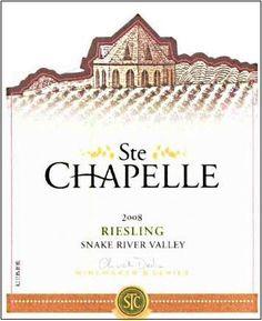 Ste Chapelle Wine label