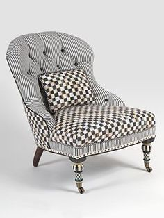 ~` mackenzie-childs underpinnings accent chair `~  Would love this chair in my Funky House.....