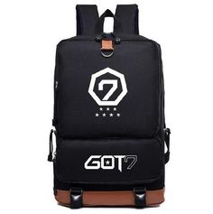 Kpop Korean Pop Backpack fashion trendy BTS Got7 Exo Lucky opne Tokyo Harajuku SQ12017