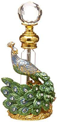 StealStreet SS-A-51623 Crystal Jewel Perfume Bottle Scented Fragrance Container