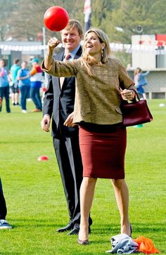 King Willem-Alexander and Queen Maxima opens King's Games 2015 in Leiden - April 24, 2015