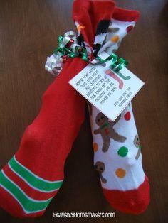 "Fun Christmas Socks Gift Idea ~ Keeping the Mistle ""Toes"" Warm"