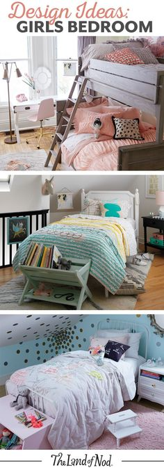 Searching for girls bedroom ideas? The Land of Nod has tons of inspiration for every girls room design. We all know that any kids bedroom should be filled with personal and stylish details. That's why we've got a mega lineup of kids furniture and kids bedding to match a variety of styles. Don't forget to top it all of with playful kids decor, too.