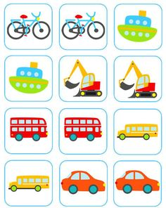 Free Matching Memory Game for Kids: Transportation! - The Measured Mom saved as: Transportation-Matching-Memory-Game matching memory game snip Free Matching Memory Game for Kids: Transportation! Toddler Learning, Learning Activities, Preschool Activities, Transportation Activities, Memory Games For Kids, Gifted Kids, Tot School, Educational Games, Matching Games
