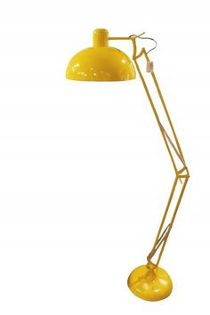 This amazing floor lamp is now mine! Bought at Kremmerhuset. Yellow Floor Lamps, Desk Lamp, Table Lamp, Best Flooring, Home Interior Design, Sweet Home, New Homes, House Design, Vase
