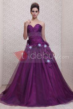 Atractivo Taline's-Vestido de Ball Gown/Prom/Quinceañera Largo al Piso Silueta Línea A Quinseañera dresses ♥LB♥ http://es.tidebuy.com