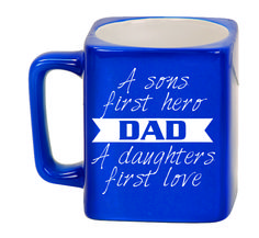 Ceramic Mugs - Square 8oz - A sons first hero a father's first love