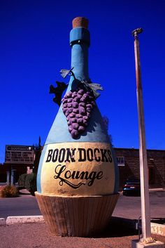 Giant Wine Bottle, Boondocks Lounge.....Tucson, Arizona