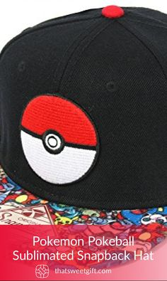 A must-have item for all pokemon or pokemon GO lovers. A classic pokemon hat with a pokeball design knitted on the front. Pokemon Hat, Pokemon Gifts, Pokemon Funny, All Pokemon, Cool Gifts, Unique Gifts, Snapback Cap, Caps Hats, Your Favorite