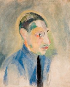 Igor Stravinsky, Portrait of Stravinsky by Robert Delaunay, in the Garman Ryan Collection on ArtStack #igor-stravinsky #art