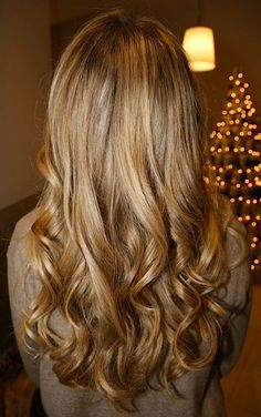 Caramel haircolor. Lovely before & after.