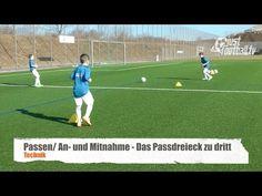 Fussballtraining: Das Passdreieck zu dritt - Ballkontrolle - Technik - YouTube