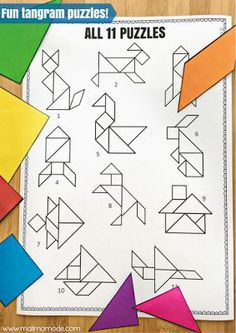Malimo Mode: 4 BIG Reasons Why You Should Be Using Tangram Puzzles! Develop key skills with practical and fun puzzles!