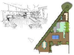 14 Best Triangle shaped garden images   Garden, Backyard ... on Triangle Shaped Backyard Design id=74810