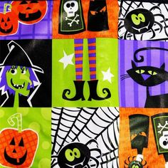 HALLOWEEN SPIDERS GHOSTS  PUMPKINS~Vinyl Tablecloth~Flannel Back~ALL SIZES~NEW #Unlisted