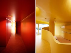 childcare facility in boulay, france designed by paul le quernec   colours differentiate spaces