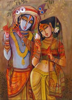 Online platform for Contemporary and Modern Art, Paintings, where next generation artists have showcased varied forms of contemporary art in all mediums. Radha Krishna Wallpaper, Krishna Art, Radhe Krishna, Lord Krishna, Radha Krishna Pictures, Krishna Images, Indian Art Paintings, Canvas Paintings, Abstract Paintings
