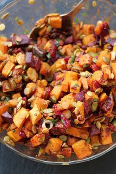 Roasted Sweet Potato Salad with Cranberry-Chipotle Dressing - Joanne Eats Well With Others