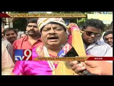 AP MP Shiva Prasad's artistic touch to demonetisation protest - TV9