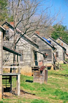Henry River Village - a ghost town near Morganton, North Carolina, coming back to life with tours. This mill village was the film location for District 12 in The Hunger Games