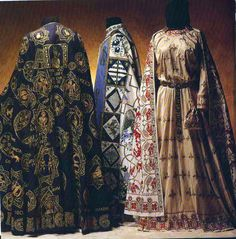 Madame de Pompadour — Byzantine and medieval men's and women's costumes. Medieval Costume, Medieval Dress, Medieval Fantasy, Medieval Fashion, Medieval Clothing, Historical Costume, Historical Clothing, Middle Eastern Fashion, Period Outfit