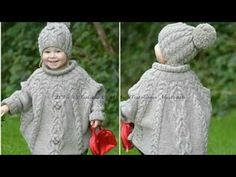Baby Knitting Patterns Poncho Temptation poncho and hat set is stylish and super cosy clothing for your little. Baby Knitting Patterns, Knitting For Kids, Baby Patterns, Free Knitting, Knitting Projects, Crochet Patterns, Knitting Needles, Knitting Kits, Knitting Tutorials