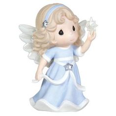 """Precious Moments Annual Angel Holding Star Figurine """"Hope Shall Light The World"""" First in Series - Holiday Figurines Precious Moments Quotes, Precious Moments Figurines, Porcelain Dolls For Sale, A Child Is Born, Ethereal Beauty, Collectible Figurines, My Precious, First World, In This Moment"""